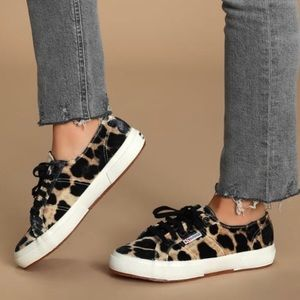 Superga Leopard Print 2750 Sneakers NEW Size 40